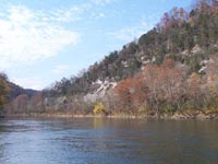 Cumberland River in the Fall